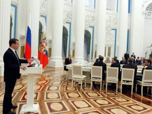Дмитрий Медведев на расширенном заседании правительства 31 января 2013, фото пресс-службы Белого дома