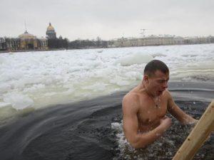 Крещенское купание, фото Петербургский дневник