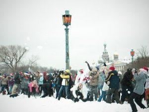 Снежная битва, фото из группы Вконтакте