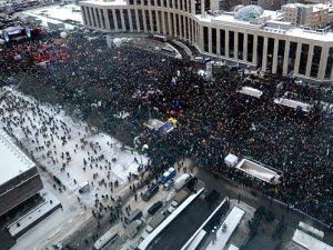 акция на проспекте Сахарова, фото с сайта ren-tv