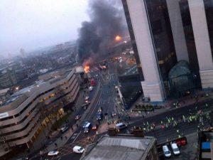 вертолет сгорел в Лондоне