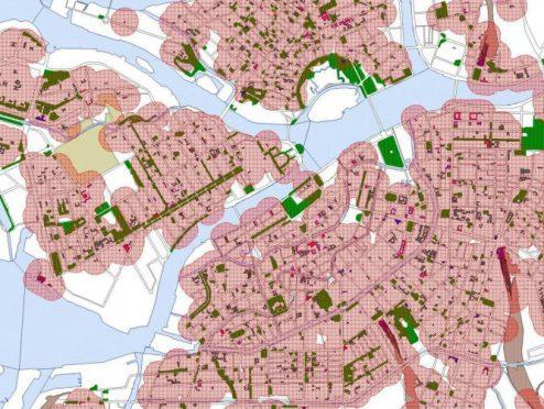 Места для митингов в Петербурге с учетом нового закона. Красными кружками отмечены зоны, где митинговать нельзя. Источник: центр ЭКОМ