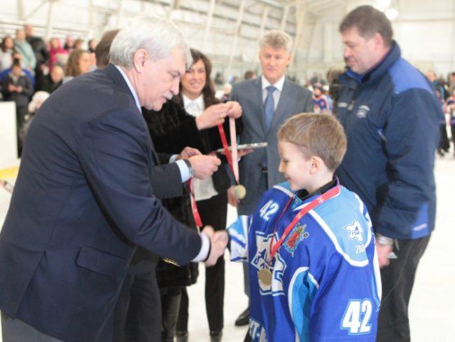 Турнир по хоккею с шайбой среди детских команд 2004 года рождения ''Кубок Губернатора'', фото пресс-службы Смольного
