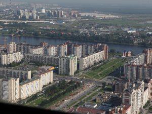 Невский район с вертолета
