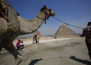 Египет пирамиды Egyptian tourists get their pictures taken at the Giza Pyramids, on the outskirts of Cairo