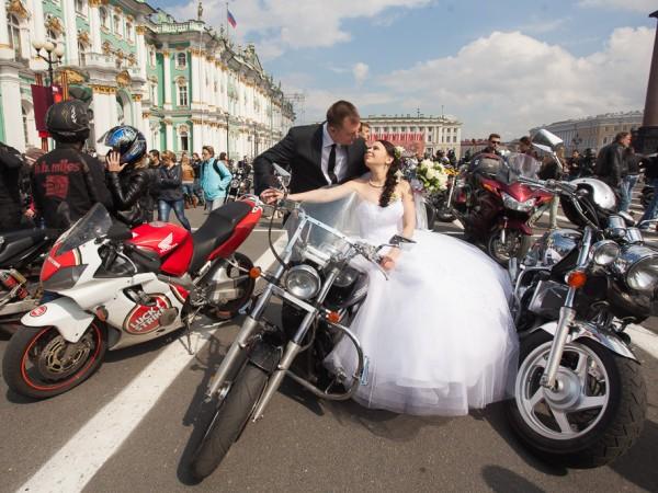 свадьба байкеры мотоциклы