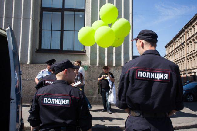 Задержание активистов движения «В