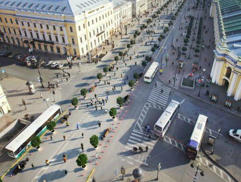 """проект пешеходной зоны на Невском проспекте, """"Красивый Петербург"""""""