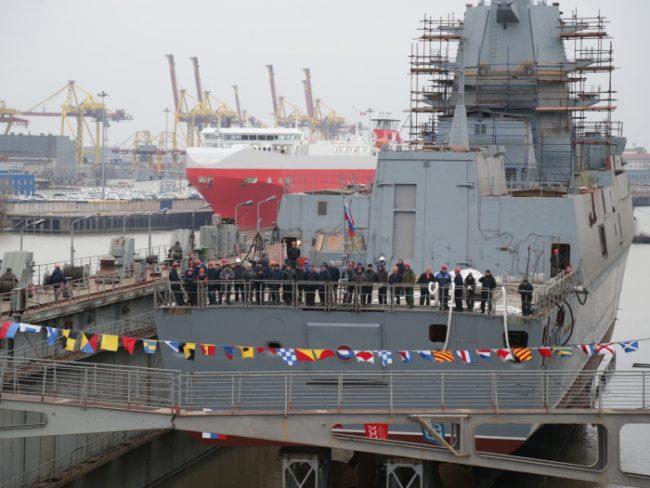 фрегат касатонов спуск на воду северная верфь корабль судостроение флот