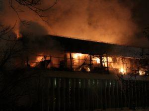 пожар в библиотеке ран