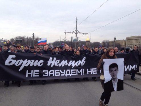 марш оппозиции память немцова