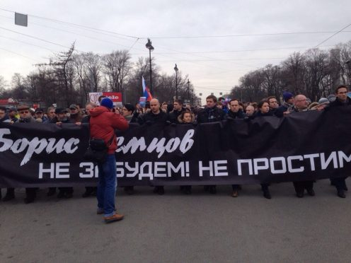 марш оппозиции памяти бориса немцова