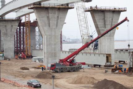 строительство зсд стройка намыв новокрестовская крестовский остров строительство моста