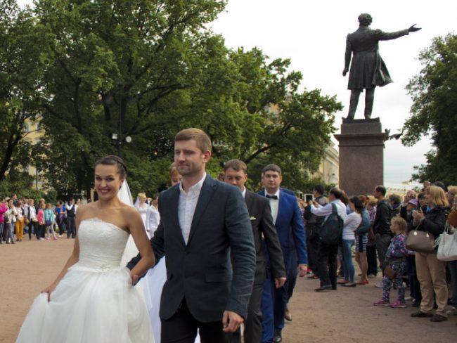 Молодожены свадьба день семьи 2015