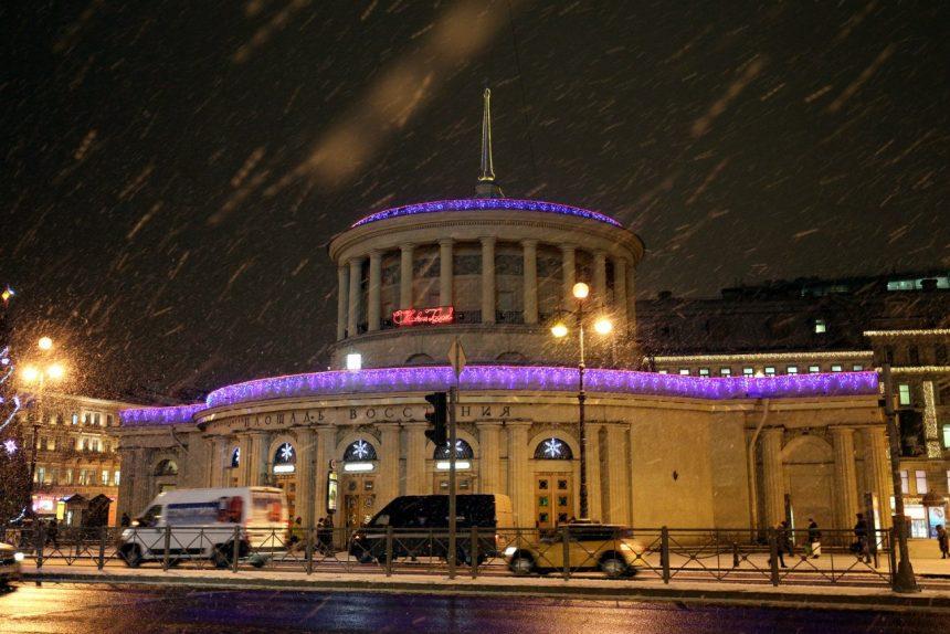 площадь восстания снег зима