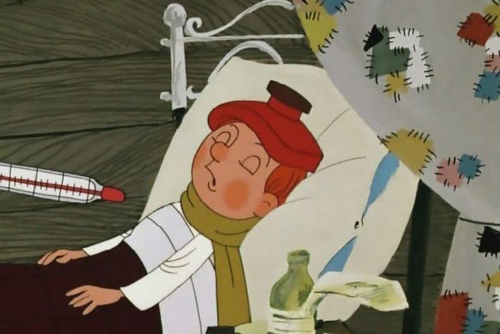 простоквашино дядя федор грипп болезнь простуда