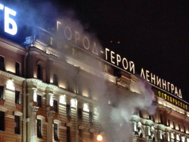гостиница октябрьская пожар3