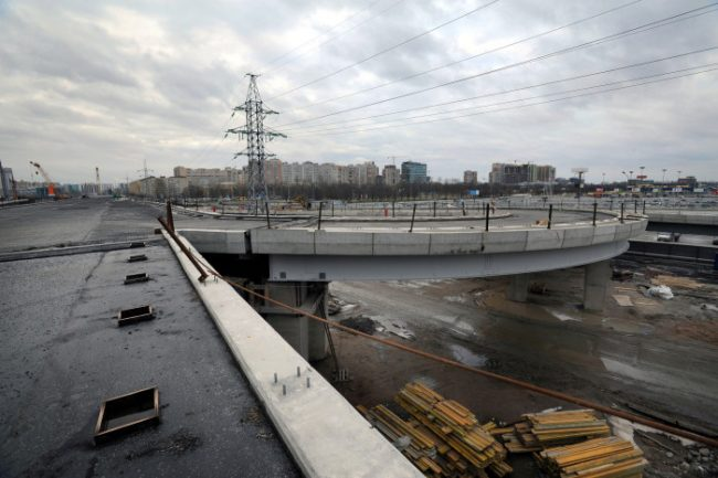строительство развязки пулковского шоссе и дунайского проспекта