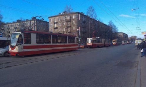 Трамваи на Торжковской улице. Фото с сайта wikimapia.org