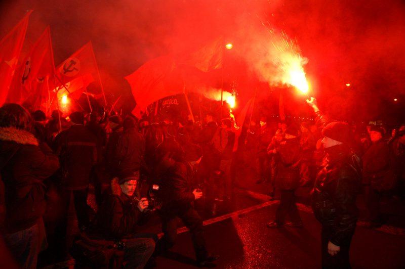 коммунисты митинг шествие годовщина октябрьской революции 7 ноября