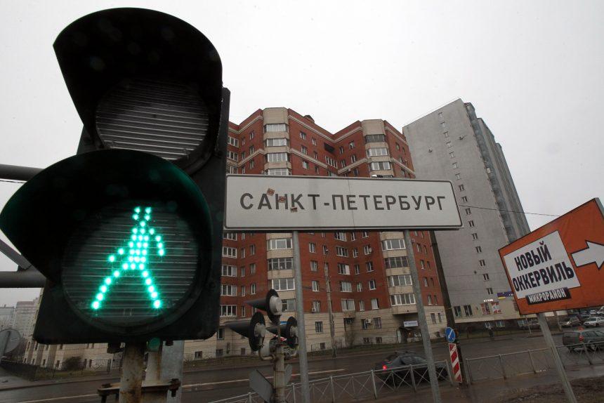 светофор железнодорожный переезд указатели санкт-петербург новый оккервиль улица дыбенко