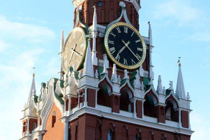 Москва Кремль Спасская башня часы