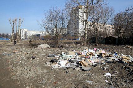 несанкционированная свалка нелегальная помойка мусор морская набережная