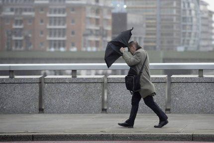 ветер зонт погода