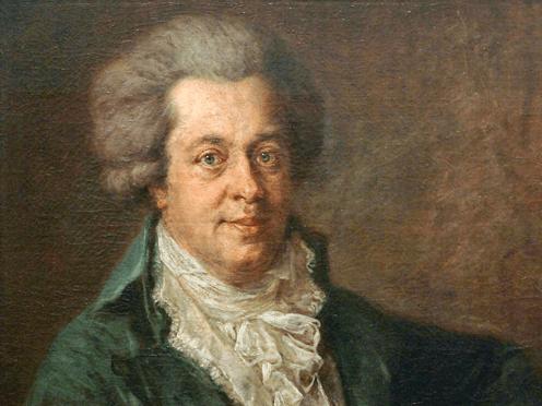 Вольфганг Амадей Моцарт. Портрет работы Иоганна Георга Эдлингера (1790)
