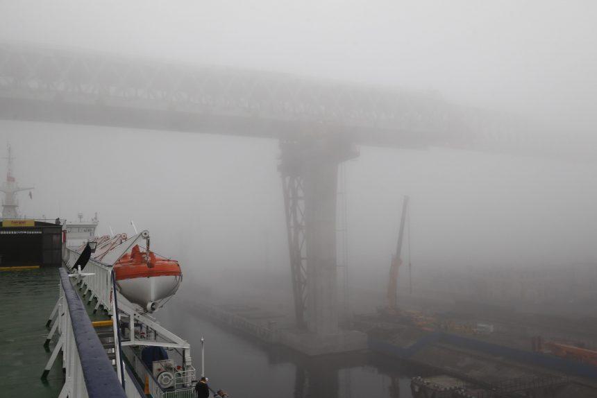 морской канал порт санкт-петербурга краны туман западный скоростной диаметр зсд мост