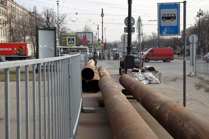 трубопровод ремонт теплотрассы теплосеть большой проспект васильевского острова