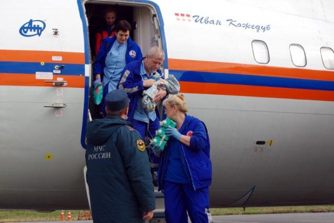 санитарно-авиационная эвакуация больных детей из донбасса мчс петербург