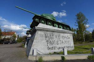 памятник советским солдата польша вроцлав вандализм