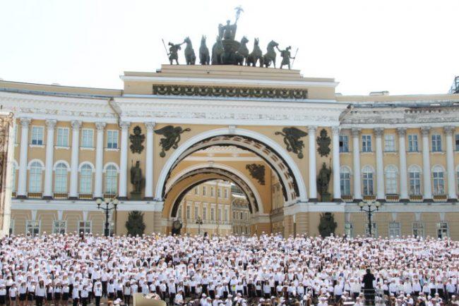 сводный хор на дворцовой дворцовая площадь