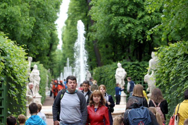 фонтаны летний сад аллеи