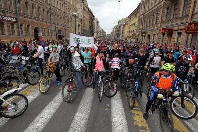 большой велопарад 2016 велосипедисты велодвижение улица жуковского