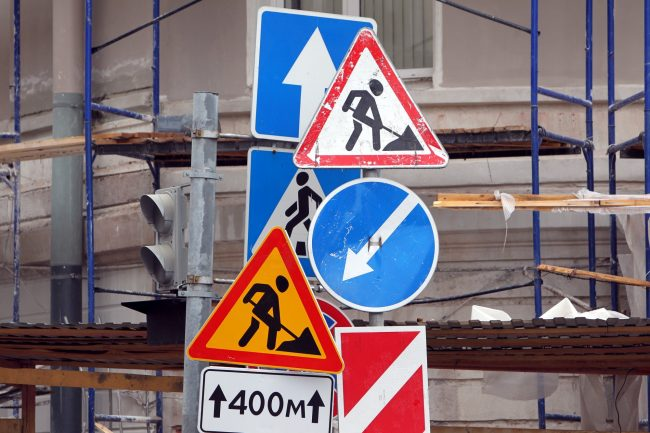 дорожные работы знаки ремонт дорог объезд