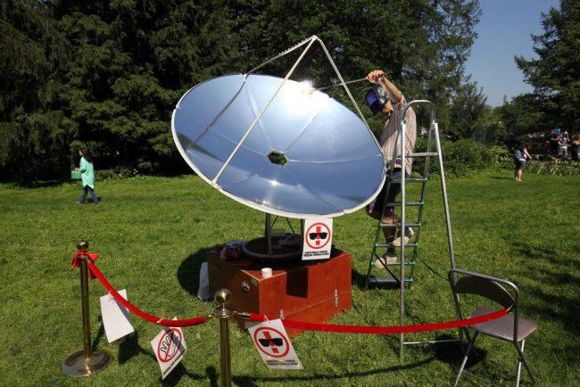 фестиваль науки и технологий geek picnic солнечная тарелка