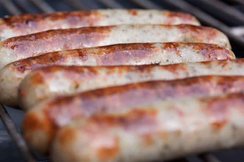 сосиски гриль барбекю пикник