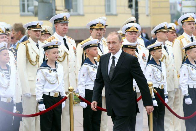 день военно-морского флота вмф владимир путин сенатская площадь