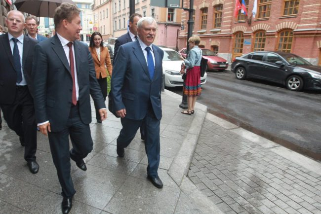 полтавченко и миллер газпром городу улицы
