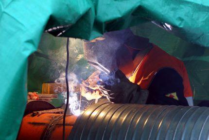 реконструкция тепломагистрали сварка рабочий оао теплосеть