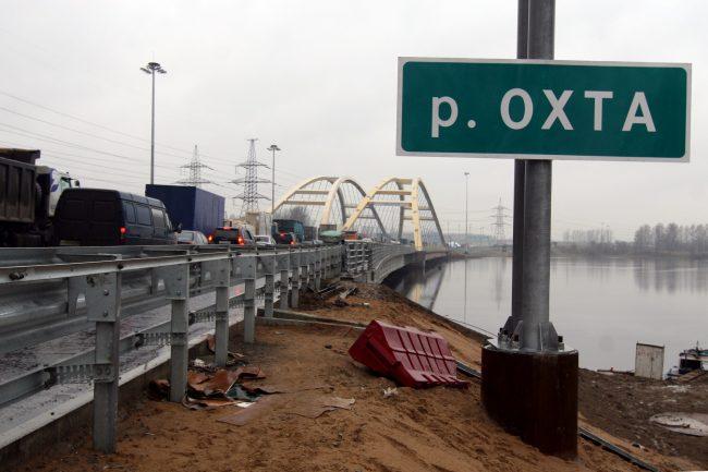 Беляевский мост через Охту КАД Кольцевая автомобильная дорога