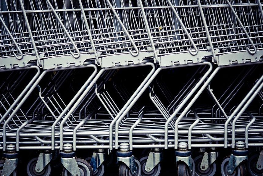 тележки гипермаркет супермаркет магазин торговля покупки