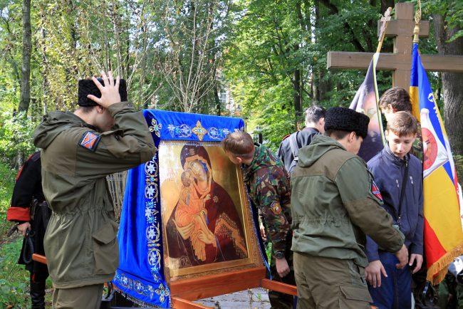 крестный ход перенос мощей александра невского казаки икона православие