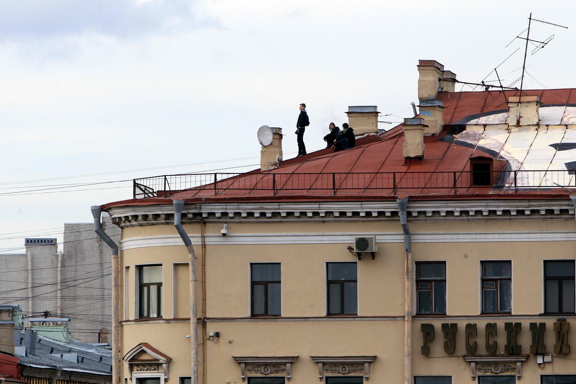 руферы на крыше университетская набережная