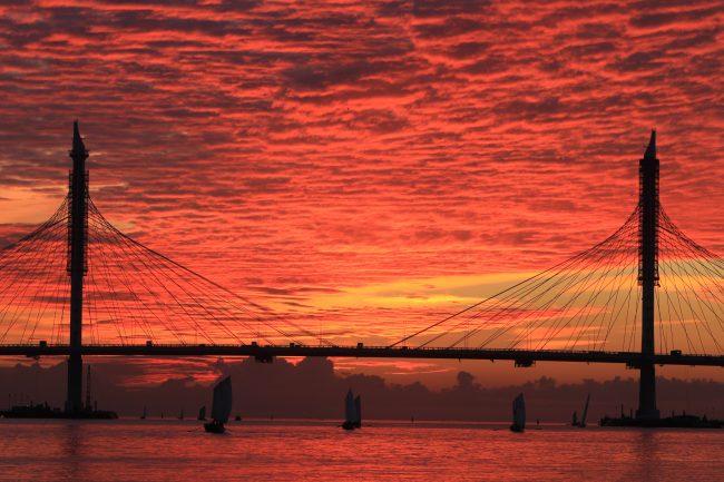 закат финский залив западный скоростной диаметр зсд яхты