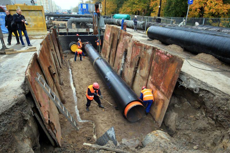 ремонт теплотрассы теплоцентраль восточная большой проспект трубы рабочие