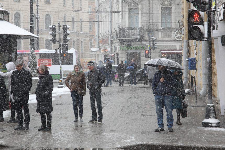 снег погода зима