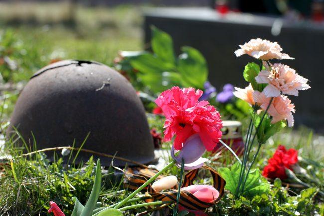 братская могила каска поисковики Полежаевский парк Великая Отечественная война